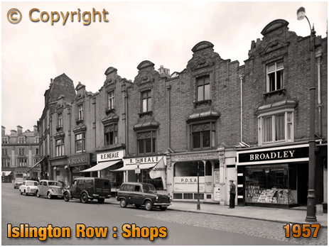 Birmingham : Shops on Islington Row near Five Ways at Edgbaston [1957]
