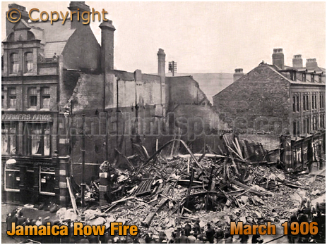 Birmingham : Destruction of Messrs. Hyndman's on the corner of Jamaica Row and Moat Row [March 1906]
