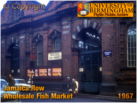 Birmingham : Wholesale Fish Market in Jamaica Row by Phyllis Nicklin [1968]