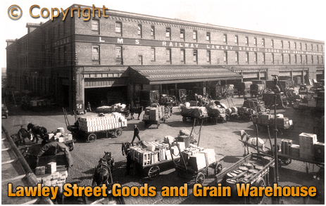 Birmingham : Lawley Street L.M.S. Goods and Grain Warehouse at Duddeston