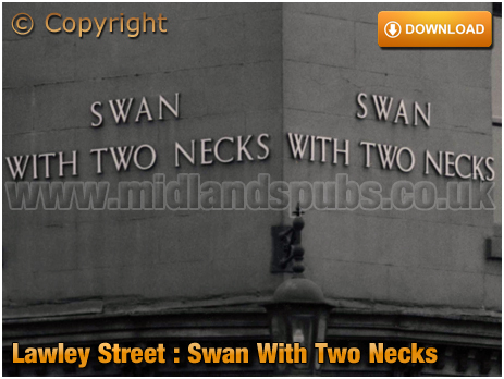 Birmingham : The Swan With Two Necks name on the corner of Lawley Street and Great Brook Street in Duddeston [1959]