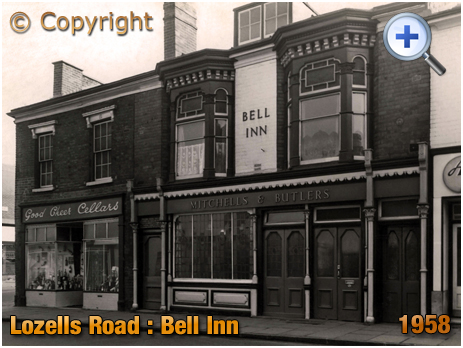 Birmingham : The Bell Inn on Lozells Road at Handsworth [c.1958]