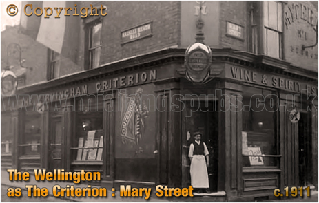 The Criterion [Wellington] on the corner of Mary Street and Balsall Heath Road [c.1911]