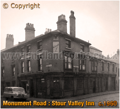 Birmingham : Stour Valley Inn on the corner of Monument Road and Great Tindal Street in Ladywood [c.1960]