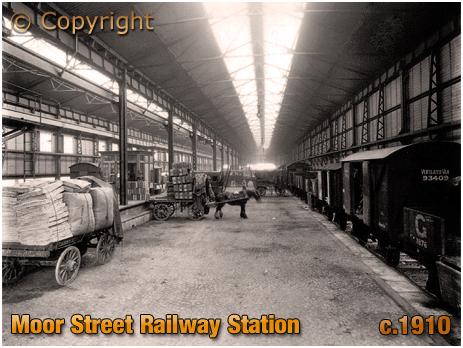 Birmingham : Moor Street Railway Station Goods Sheds [1910]