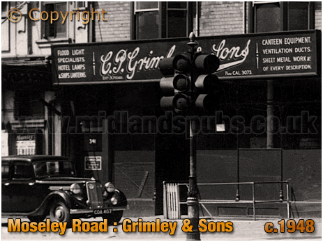 Birmingham : Premises of C. P. Grimley & Sons on Moseley Road at Highgate [c.1948]