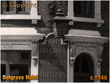 Birmingham : Corner detail of the Belgrave Hotel on the corner of Moseley Road and Belgrave Road at Highgate [c.1948]