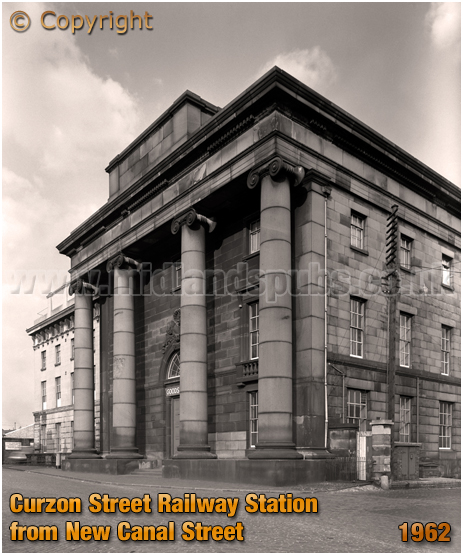 Birmingham : Façade of Curzon Street Railway Station from New Canal Street [1962]
