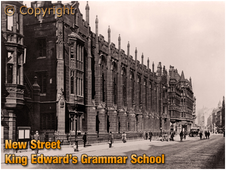 Birmingham : King Edward's Grammar School in New Street [c.1920]