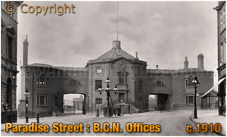B.C.N. Canal Offices in Paradise Street [1912]