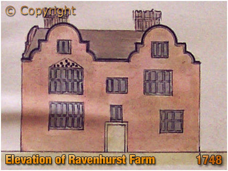 Birmingham : Elevation of Ravenhurst Farm from a plan dated 1748 by Samuel Bradford [1748]