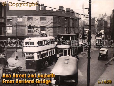 Birmingham : Junction of Rea Street and Digbeth [c.1932]