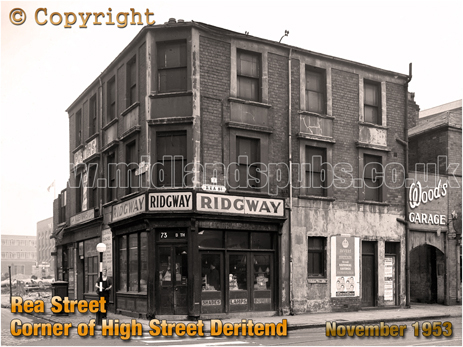 Birmingham : Corner of Rea Street and High Street Deritend [1953]