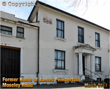 Family Home of James Pemberton on Moseley Road
