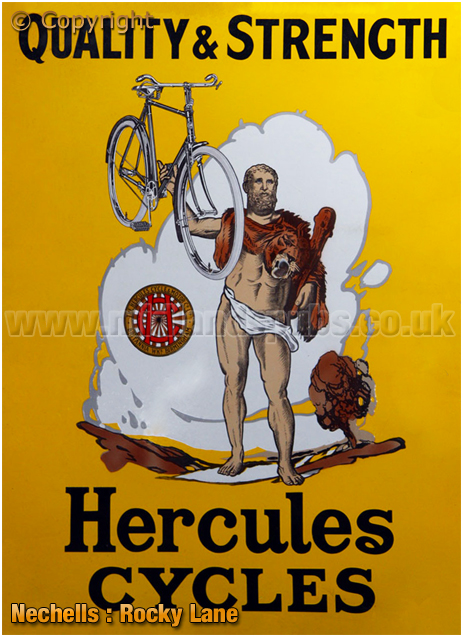 Birmingham : Advertisement for Hercules Cycles of Rocky Lane in Nechells