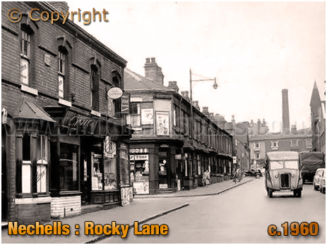 Birmingham : Shops on Rocky Lane in Nechells [c.1960]