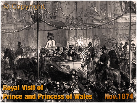 Royal Visit to Birmingham by the Prince and Princess of Wales [1874]