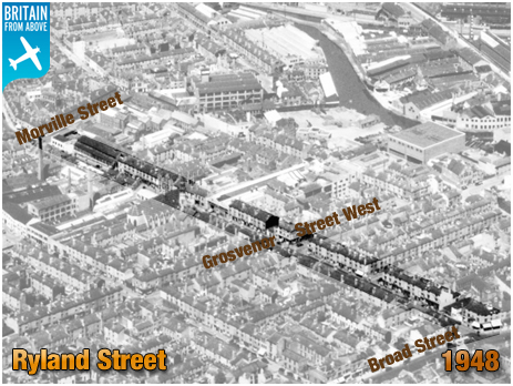 Birmingham : Aerial View of Ryland Street at Ladywood [1948 : © Britain From Above]