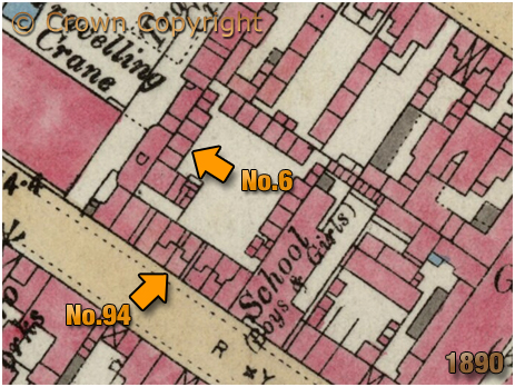 Birmingham : Location of No.6 10 Court in Ryland Street at Ladywood [1890]