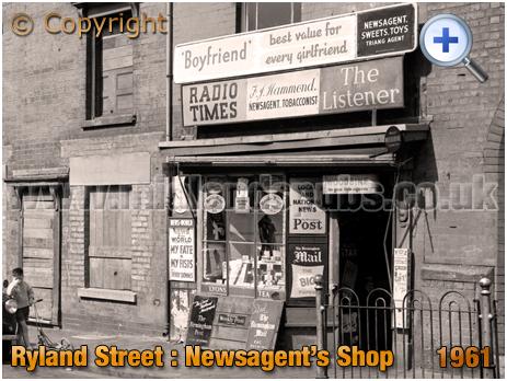 Birmingham : Hammond's Newsagent's Shop in Ryland Street at Ladywood [1961]
