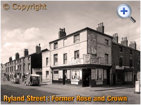 Birmingham : Joe's Café on the corner of Ryland Street and Grosvenor Street West at Ladywood [1961]