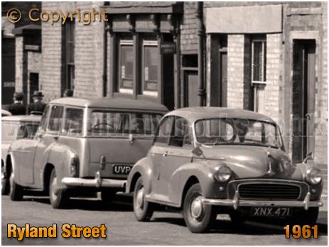Birmingham : Morris Minor in Ryland Street at Ladywood [1961]