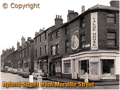 Birmingham : Corner of Ryland Street and Morville Street at Ladywood