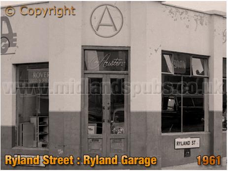 Birmingham : Ryland Garage Showroom on the corner of Ryland Street and Morville Street at Ladywood [1961]