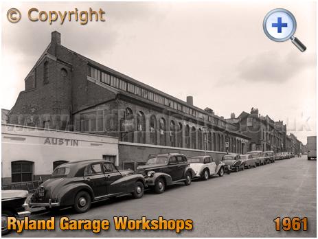 Birmingham : Ryland Garage Workshops in Ryland Street at Ladywood [1961]