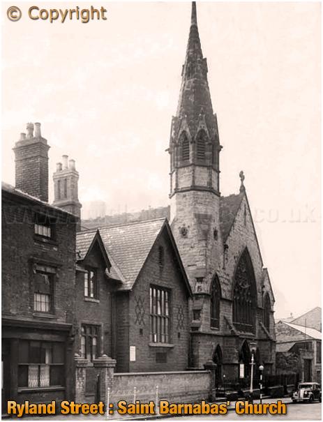Birmingham : Saint Barnabas' Church in Ryland Street at Ladywood