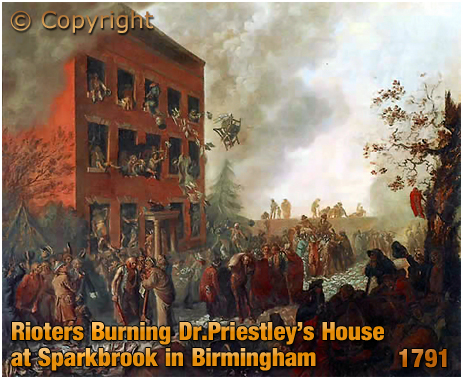 Rioters Burning Dr. Priestley's House at Sparkbrook