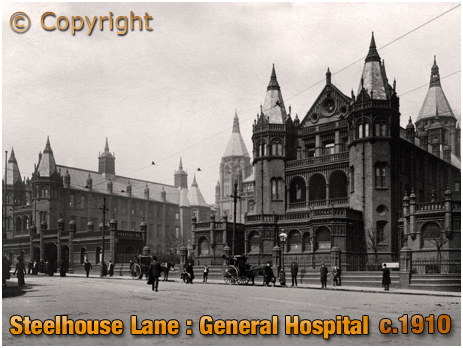 Birmingham : General Hospital in Steelhouse Lane [c.1910]