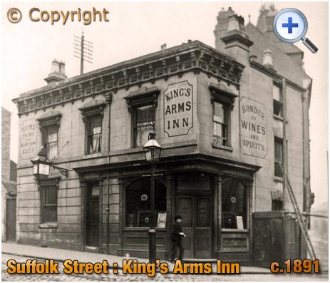 Birmingham : King's Arms Inn on Suffolk Street [c.1891]