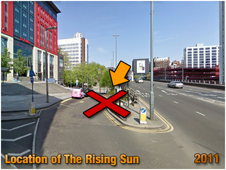Birmingham : Location of the Rising Sun on Suffolk Street [2011]
