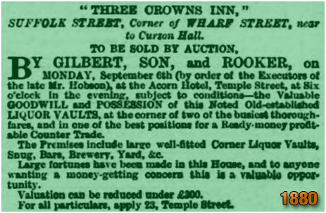 Birmingham : Advertisement for an auction of the Three Crowns Inn [1880]