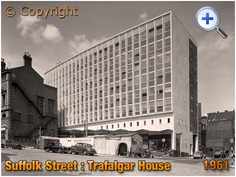 Construction of Trafalgar House on Suffolk Street and Paradise Street in Birmingham [1961]