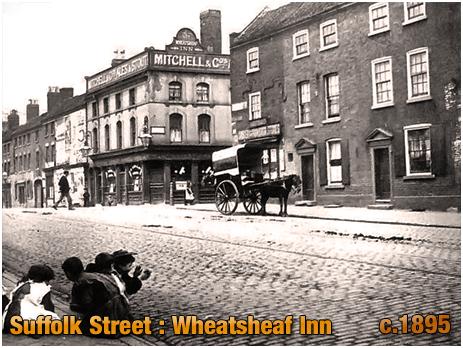 Birmingham : The Wheatsheaf Inn on the corner of Suffolk Street and Cross Street [c.1895]