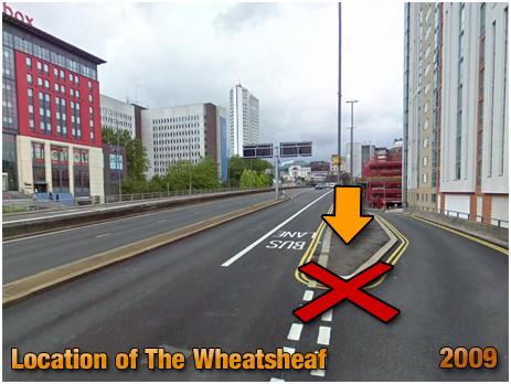 Birmingham : Location of The Wheatsheaf Inn on Suffolk Street [2009]