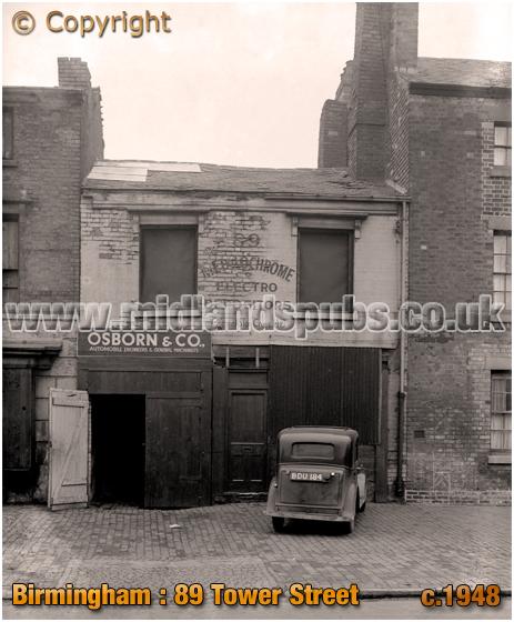 Birmingham : Workshop at No.89 Tower Street in Newtown [c.1948]