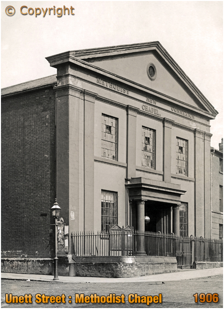 Birmingham : Methodist New Connexion Chapel in Unett Street at Hockley [1906]