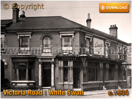 Birmingham : The White Swan on the corner of Victoria Road and Whitehead Road at Aston [c.1934]