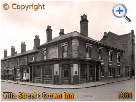 The Crown Inn on the corner of Villa Street and Nursery Terrace in Hockley [1961]