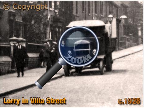 Lorry in Villa Street from Nursery Road [c.1928]