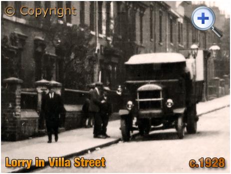 Birmingham : Lorry in Villa Street from Nursery Road [c.1928]