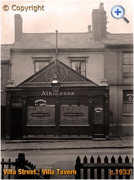 Birmingham : The Villa Tavern in Villa Street in Lozells [c.1933]