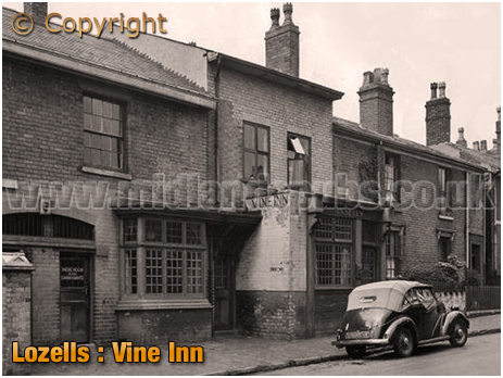 Lozells : Vine Inn in Villa Street [c.1959]