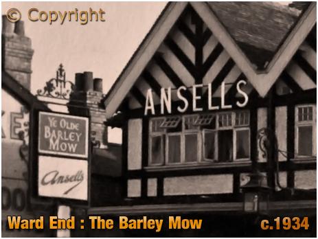 Birmingham : Inn Sign of the Barley Mow Inn at Ward End [c.1934]