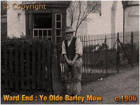 Birmingham : Agricultural Labourer outside Ye Old Barley Mow Inn at Ward End [c.1906]