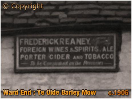 Birmingham : Licensee Name Plate of Ye Old Barley Mow Inn at Ward End [c.1906]