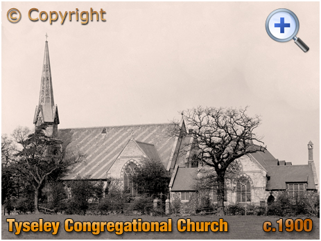 Birmingham : Tyseley Congregational Church on the corner of Warwick Road and Stockfield Road [c.1900]